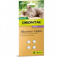 Drontal Cat Tablets 4Tab | Davies & Rose Rural & Hardware