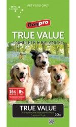DOGPRO TRUE VALUE COMPLETE AND BALANCED 20KG