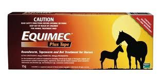 EQUIMEC PLUS TAPE ROUND WORM TAPEWORM AND BOT TREATMENT FOR HORSES