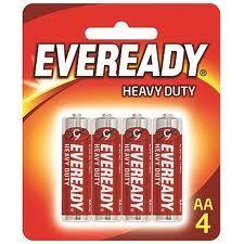 EVEREADY HEAVY DUTY AA 4PACK