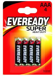 EVEREADY SUPER HEAVY DUTY AAA 4 PACK