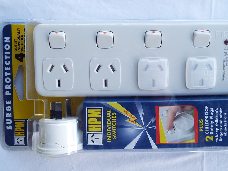 HPM 4 OUTLET SURGE PROTECTION POWERBOARD