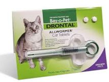 BAY O PET DRONTAL ALL WORMER CAT TABLETS