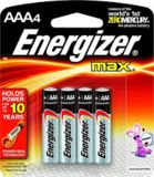 Energizer Max Battery AAA 4 Pack